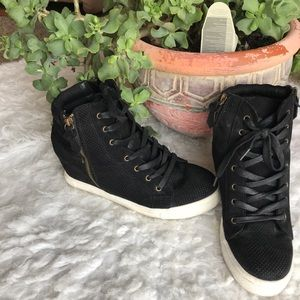 Steve Madden Wedge High Top Sneaker, size 9